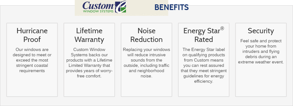 Custom Window System Benefits